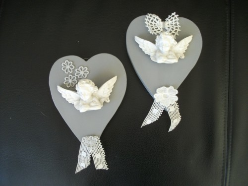 anges,couronne noël,coeur,shabby